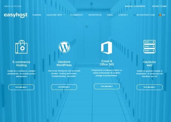 Screenshot site Easyhost