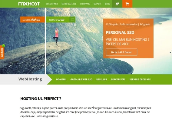 Screenshot site Mxhost