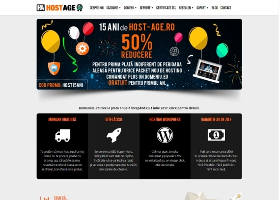 Screenshot site Host-Age