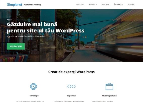 Screenshot site Simplenet